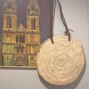 Straw French Market Bag